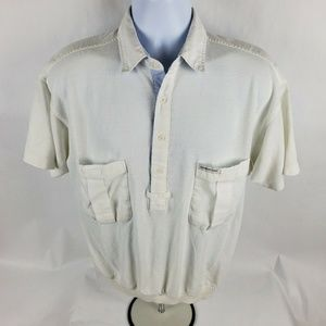 Members Only Vintage Half Button Front Shirt
